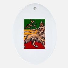 Cute Ethiopia Oval Ornament
