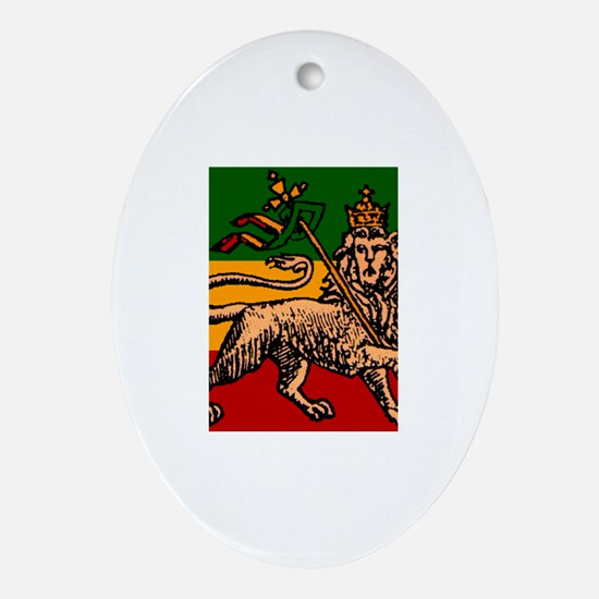 Unique Rastafari Oval Ornament