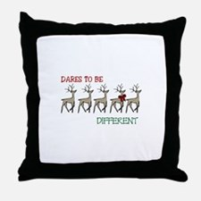 Dares To Be Different Throw Pillow