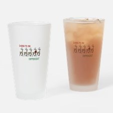 Dares To Be Different Drinking Glass