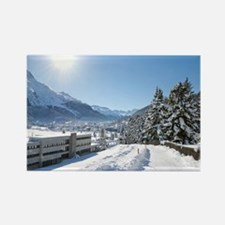 Winter in St. Moritz Magnets