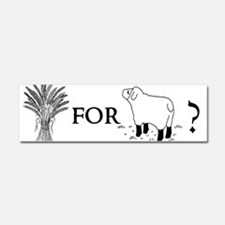 Cute Wheat Car Magnet 10 x 3