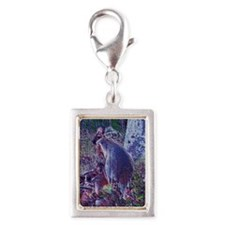 Joey with Mother by Sara  Silver Portrait Charm