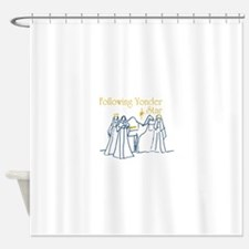 Following Yonder Star Shower Curtain