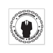 "Anonymous is Legion Square Sticker 3"" x 3"""