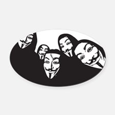 anon5 Oval Car Magnet