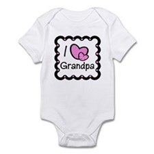 I Love Grandpa Pink Hearts Baby/Toddler bodysuit