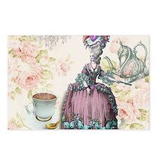 marie antoinette paris floral tea party Postcards