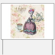 marie antoinette paris floral tea party Yard Sign