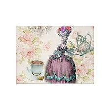 marie antoinette paris floral tea party 5'x7'Area