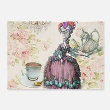 marie antoinette paris floral tea party 5'x7'Area
