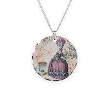 marie antoinette paris floral tea party Necklace