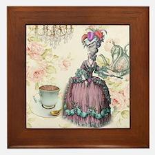 marie antoinette paris floral tea party Framed Til