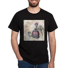 marie antoinette paris floral tea party T-Shirt