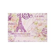 elegant paris Eiffel tower floral art 5'x7'Area Ru