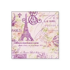 elegant paris Eiffel tower floral art Sticker