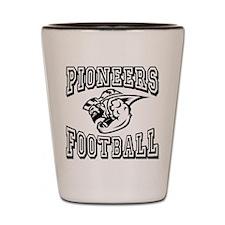 Pioneers Football Shot Glass