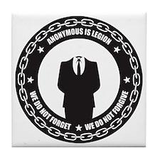 Anonymous is Legion Tile Coaster