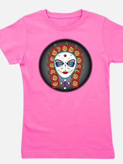 flower skull Girl's Tee