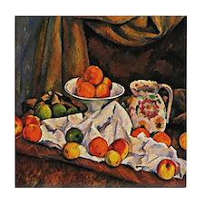 Cezanne - Fruit Bowl, Pitcher, and Fr Tile Coaster