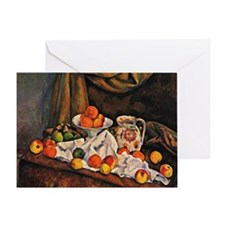 Cezanne - Fruit Bowl, Pitcher, and F Greeting Card