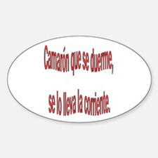 Camaron dicho colombiano Oval Decal