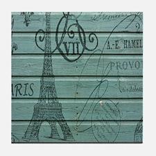 elegant paris Eiffel tower art Tile Coaster