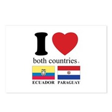 ECUADOR-PARAGUAY Postcards (Package of 8)