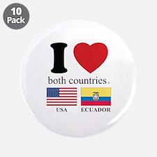 """USA-ECUADOR 3.5"""" Button (10 pack)"""