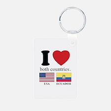 USA-ECUADOR Keychains