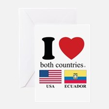 USA-ECUADOR Greeting Card