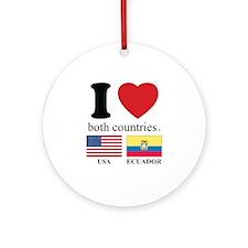 USA-ECUADOR Ornament (Round)