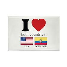 USA-ECUADOR Rectangle Magnet (100 pack)