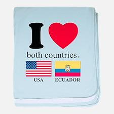 USA-ECUADOR baby blanket