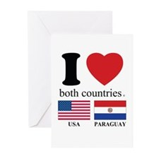 USA-PARAGUAY Greeting Cards (Pk of 20)