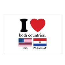 USA-PARAGUAY Postcards (Package of 8)