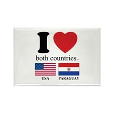 USA-PARAGUAY Rectangle Magnet (100 pack)