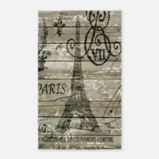 barn wood elegant paris Eiffel tower 3'x5' Area Ru