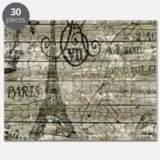barn wood elegant paris Eiffel tower Puzzle