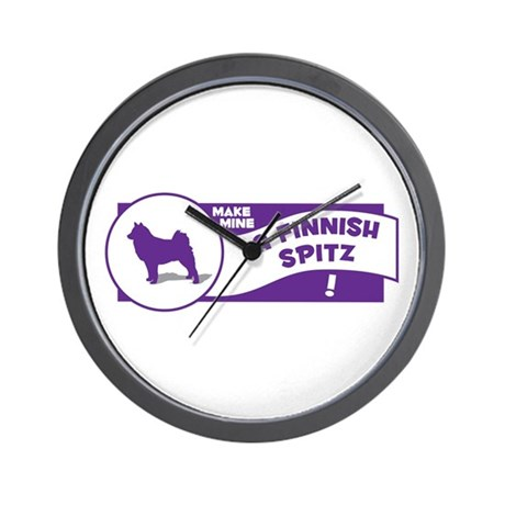 Make Mine Spitz Wall Clock