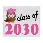 Class of 2030 (Owl) Throw Blanket