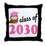 Class of 2030 (Owl) Throw Pillow