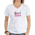 Class of 2029 (Owl) Women's V-Neck T-Shirt