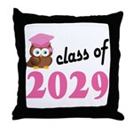 Class of 2029 (Owl) Throw Pillow