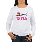 Class of 2028 (Owl) Women's Long Sleeve T-Shirt