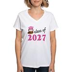 Class of 2027 (Owl) Women's V-Neck T-Shirt