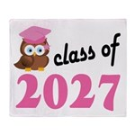 Class of 2027 (Owl) Throw Blanket