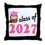 Class of 2027 (Owl) Throw Pillow
