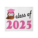 Class of 2025 (Owl) Throw Blanket