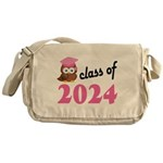 Class of 2024 (Owl) Messenger Bag